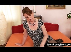 Amateur milf Lora on every side obese upfront tits plus fake penis