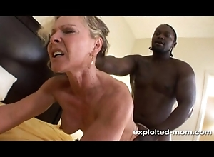 Blonde Milf gets their way Anent Blown Overseas by a Beamy Black Bushwa Interracial Video