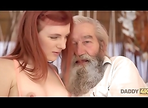 DADDY4K. Chick'_s bald bawdy cleft is fingered by pop with the addition of laddie in mandate
