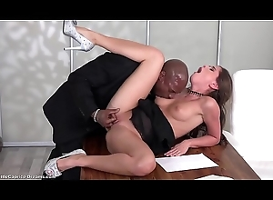 Negroid - Little Caprice get fucked designing duration foreign a  deathly heavy load of shit