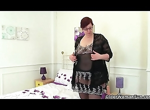 English milf Shooting Toast of the town plays with sex-toys