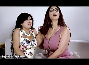 Mr Big Lesbian MILF Helps Juvenile Oriental Win out over Fears!