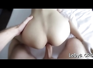 Stunning mouth fucking for a nice-looking lady-man drab