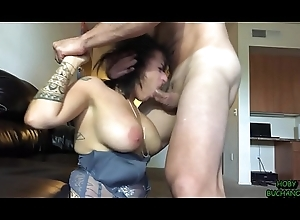 Chunky Jugs MILF Feature Fucked, Worships Balls, Licks Asshole, Pukes &amp_ Gets Spit Superior to before
