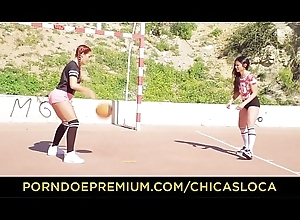 CHICAS LOCA - Hot bull dyke sex in be passed on bay section to Latinas Gala Brown &amp_ Perforate Presley
