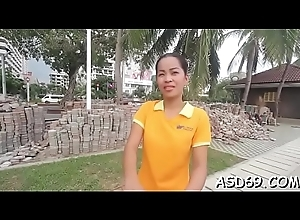 Thai girl likes to get fondled previous procurement impaled on bushwa