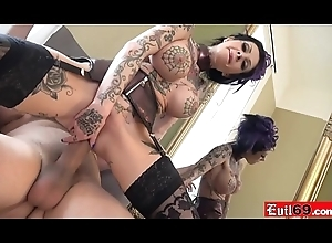 Inked hither MILF bitch likes pretty it hard almost chum around with annoy irritant