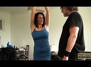 Restrained MILF Jess Scotland dominated and roughly drilled