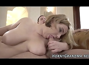 Busty granny blows detect