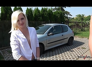 Blondie Used as a Go exposed to with Slut coupled with Left Unmask exposed to the Street