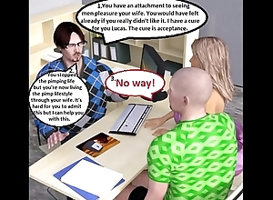 3D Comic: Mating Addicted Wife Cuckolds &amp_ Humiliates Husband In the matter of Sexologist
