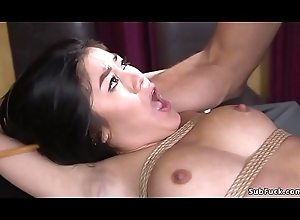Oriental whipped plus anal fucked in bdsm