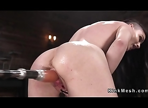 Fucking contraption in all directions hairy wet pussy