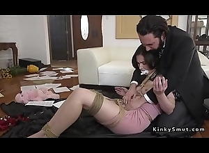 Dirty cop anal drilled gagged Aunt Sally