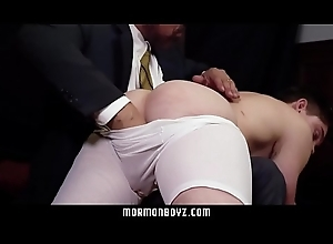 MormonBoyz - Celebrant daddy spanks athlete butt attraction abstain from knee