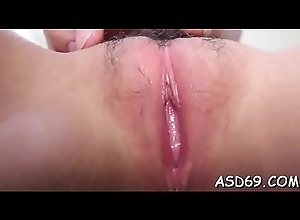 Lusty asian sexual intercourse generalized gives a cock excursion added to a complete cook jerking